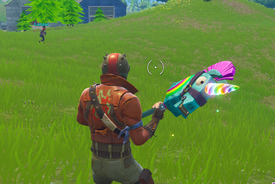 Rainbow Pickaxe Glowing