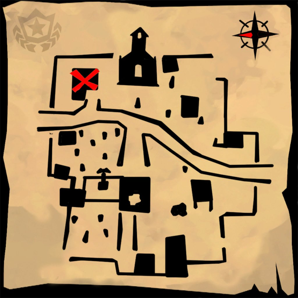 Snobby Shores Treasure Map for Season 5, Week 5