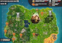 Cheat Sheet Map For Fortnite Battle Royale Season 5, Week 10 Challenges
