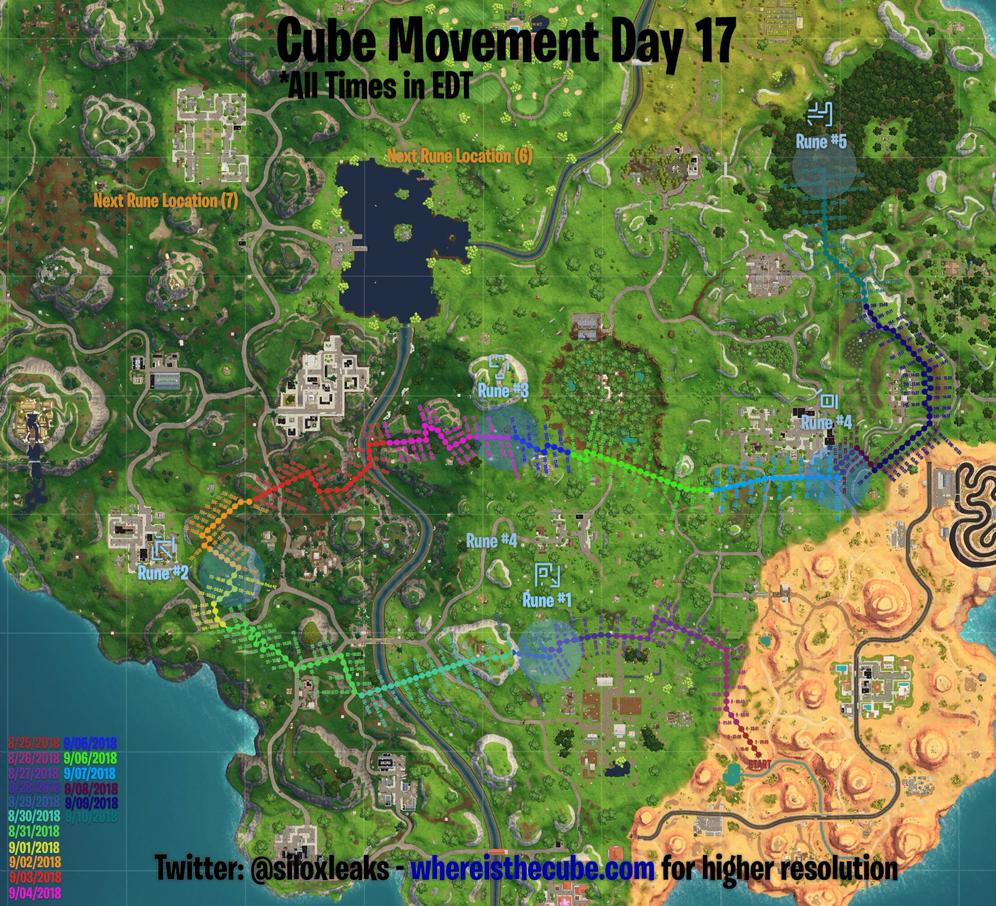 Cube Location so Far on the Fortnite Map