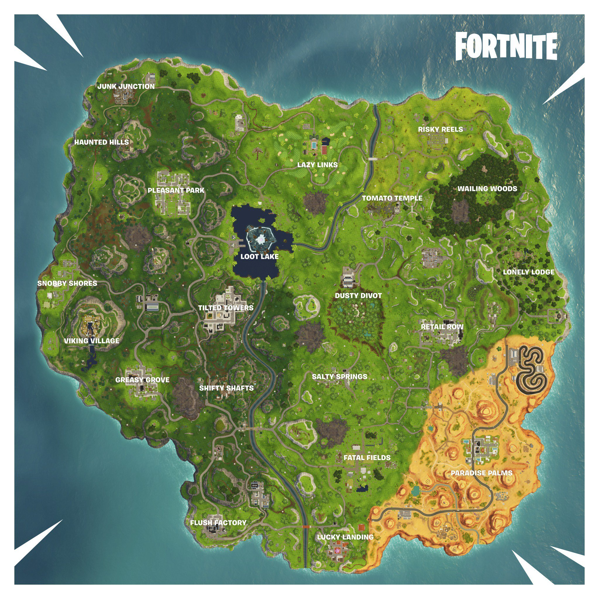 New Fortnite Season 6 Map Fortnite Insider