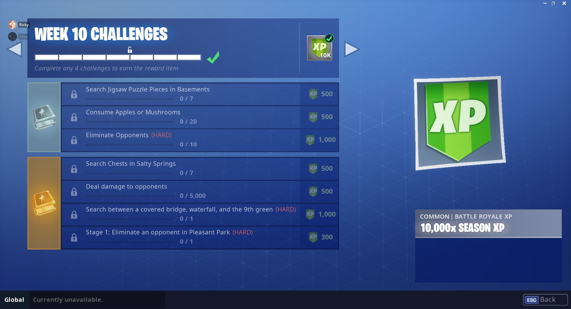 Fortnite Leaked Challenges for Season 5, Week 10