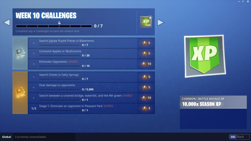 Fortnite Season 5, Week 10 Challenges