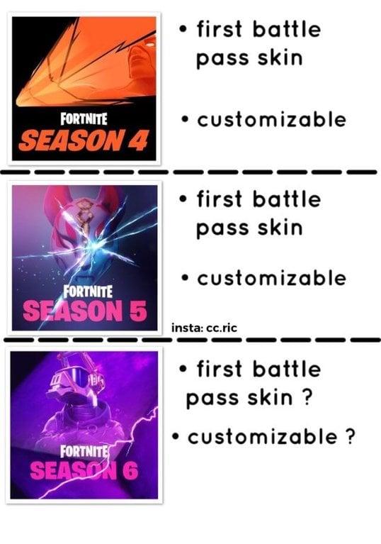 Fortnite Season 6 Battle Pass Skin