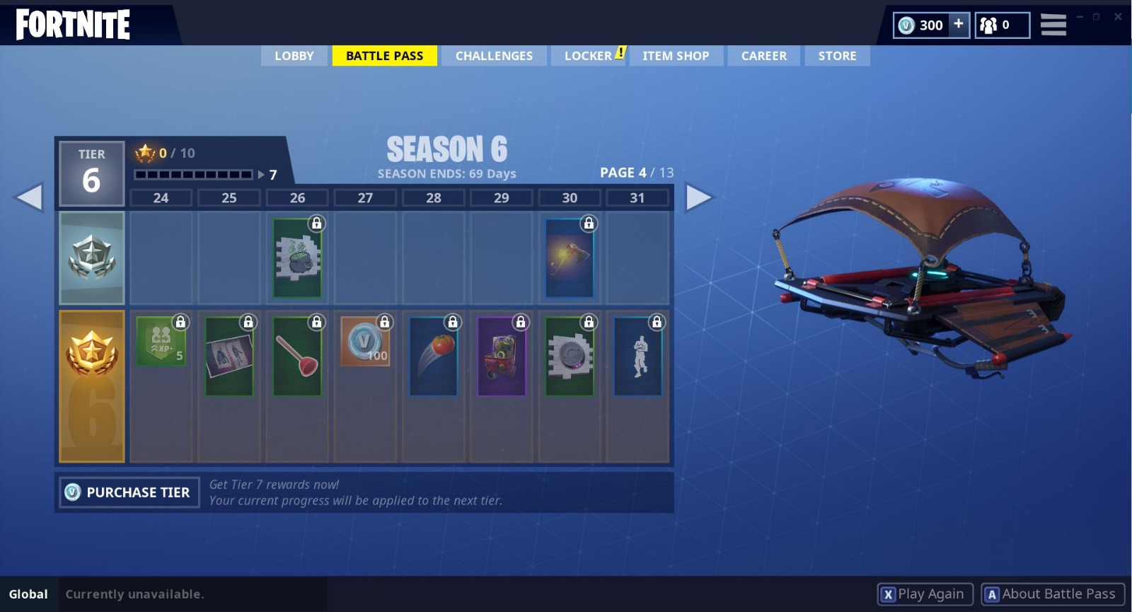 fortnite season 6 battle pass tier 24 31 - 3 tiere fortnite