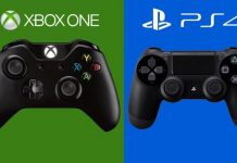 Xbox one and PS4 controllers
