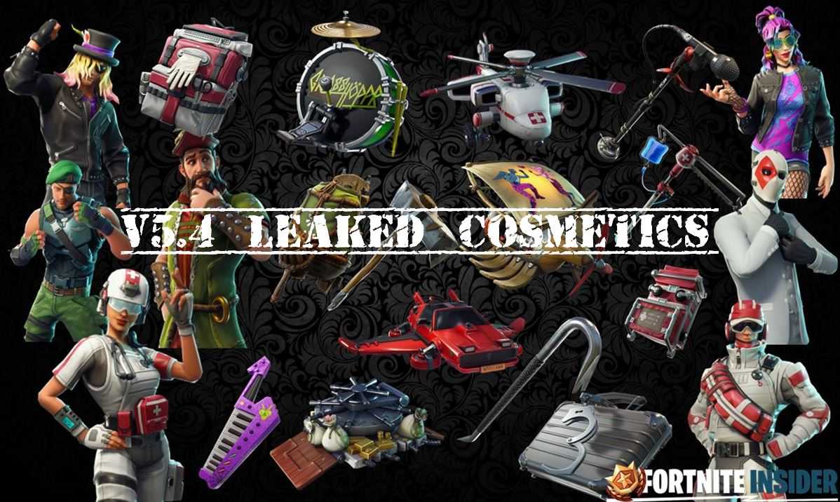 v5.4 leaked skins cosmetics fortnite