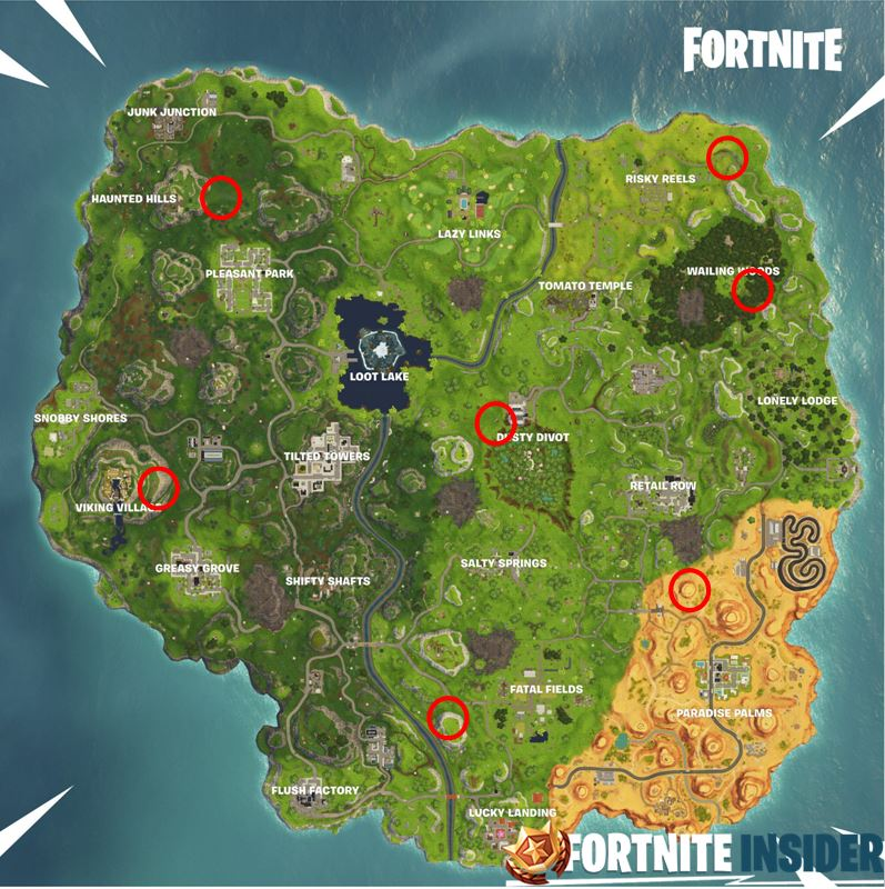 All Fortnite Shooting Galleries on the map