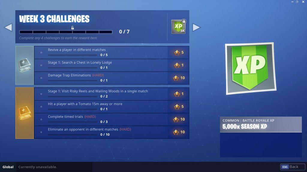 Fortnite Season 6, Week 3 Challenges