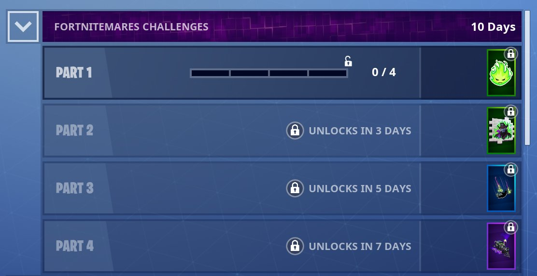 Fortnitemares challenges