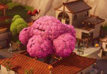 Lucky Landing pink tree