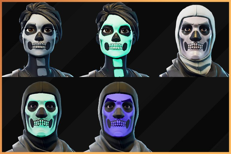 The Unlockable Styles For The Skull Trooper Skull Ranger