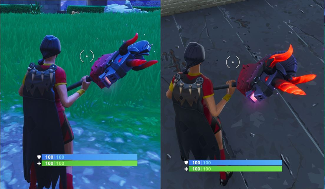 Thunder Crash Pickaxe Before and After