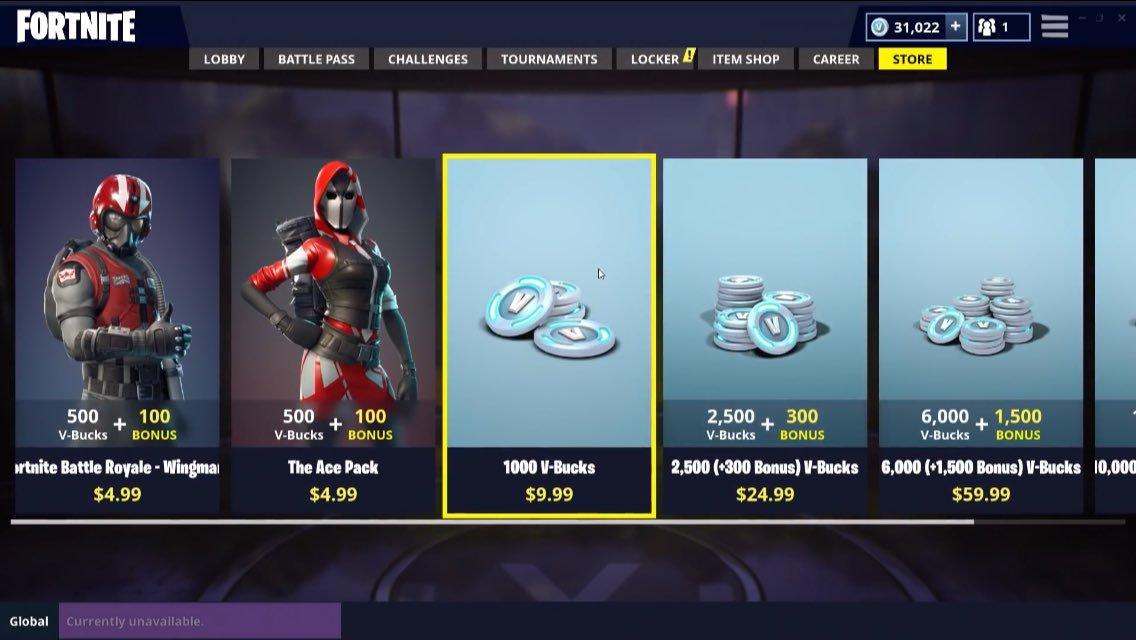 Tournament Tab in Fortnite