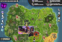Fortnite Season 6, Week 9 Cheat Sheet Map