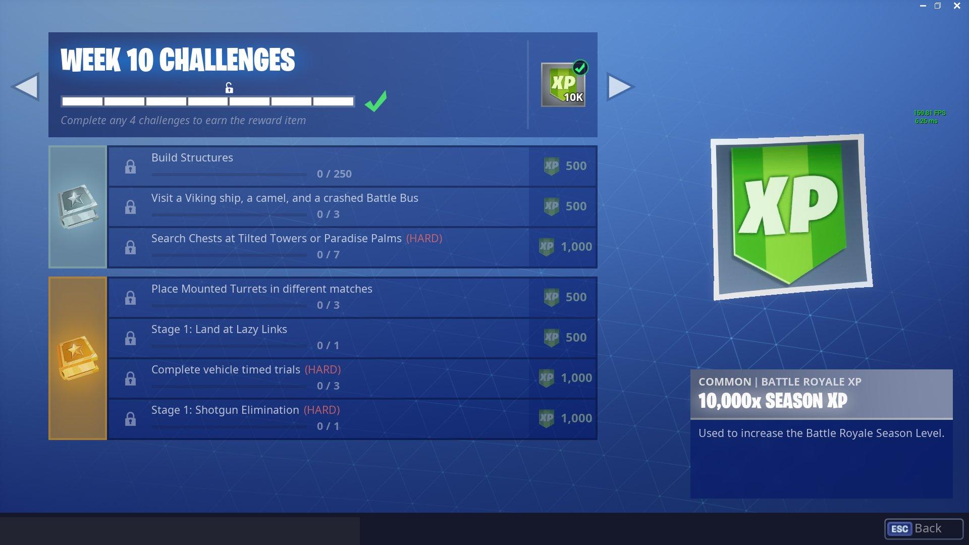 Fortnite Challenges for Season 6, Week 10