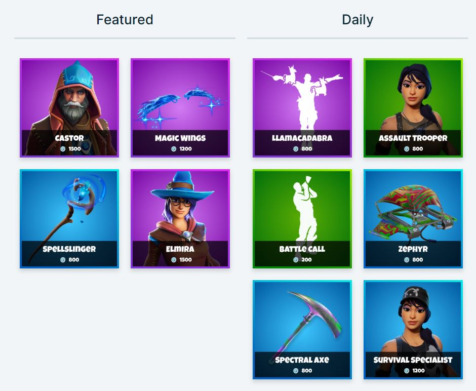 Fortnite Item Shop - Featured & Daily Items 16th November- 17th November