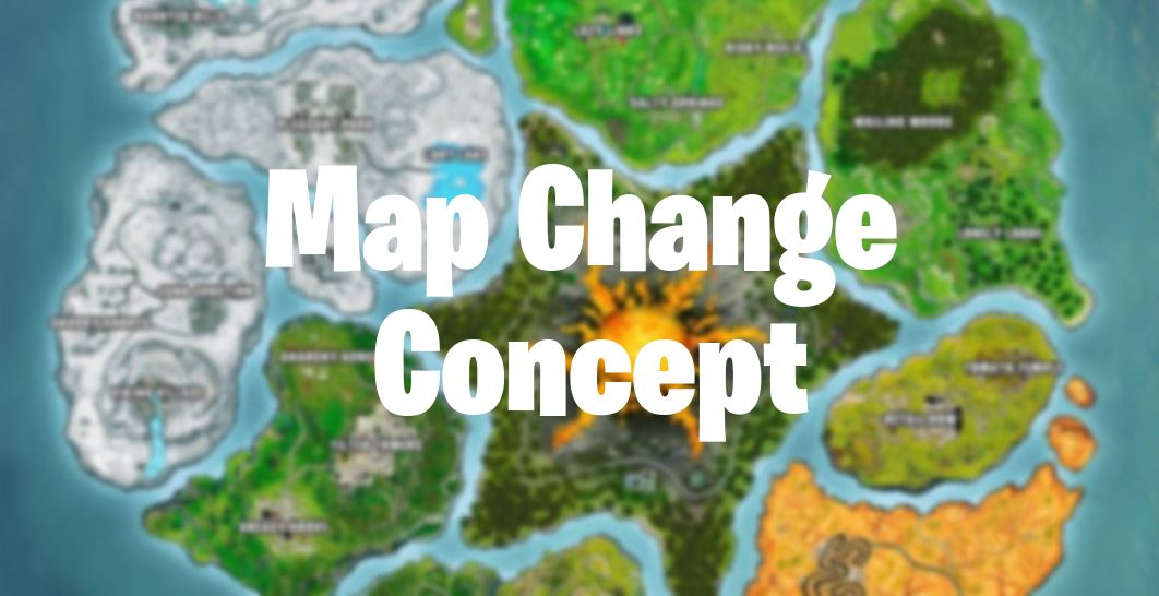 fortnite map change concept - fortnite season 8 map images