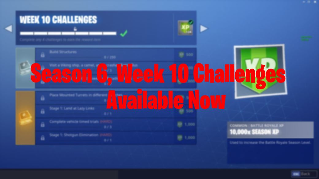 Fortnite Season 6 Week 10 Challenges Are Available Now Fortnite