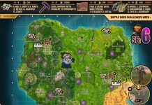 Fortnite Season 6, Week 6 Cheat Sheet Map