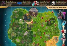 Fortnite Season 6 Week 7 Cheat Sheet Map