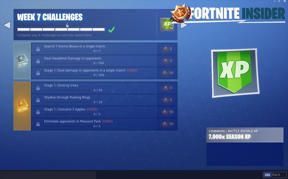 Fortnite Season 6, Week 7 Leaked Challenges