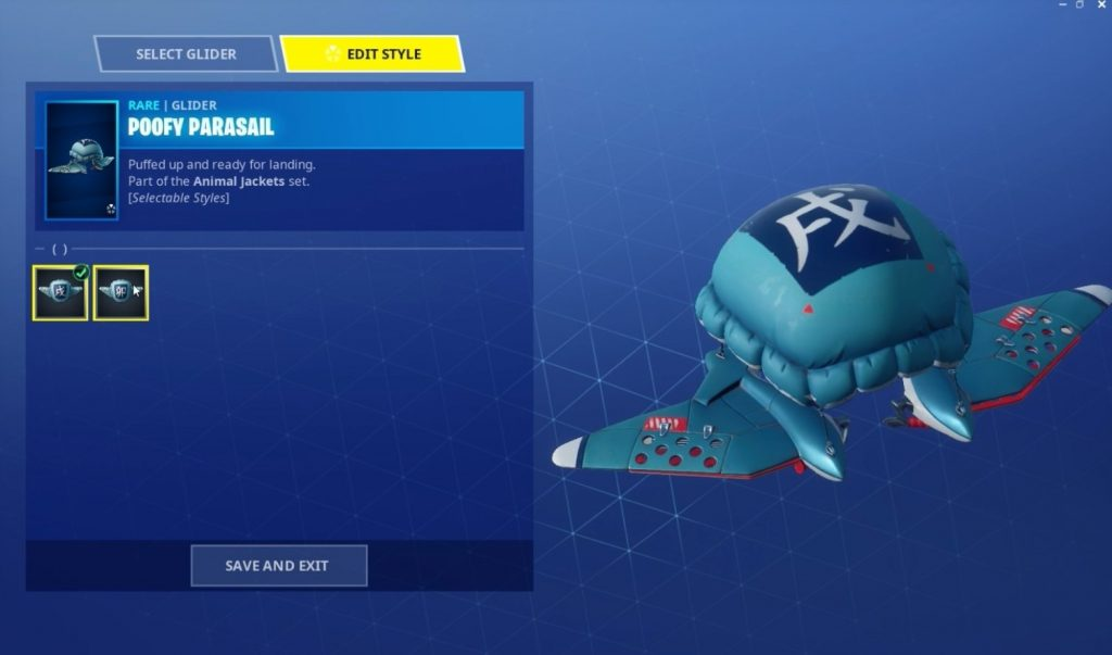 Poofy Parasail glider fortnite