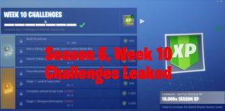 Season 6 week 10 fortnite challenges leaked