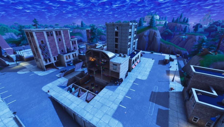 Tilted Towers in Fortnite Battle Royale