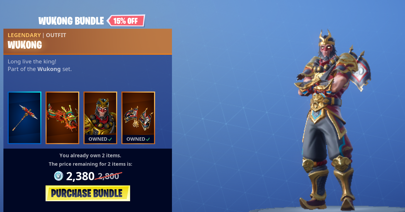Wukong Cosmetic Bundle Set