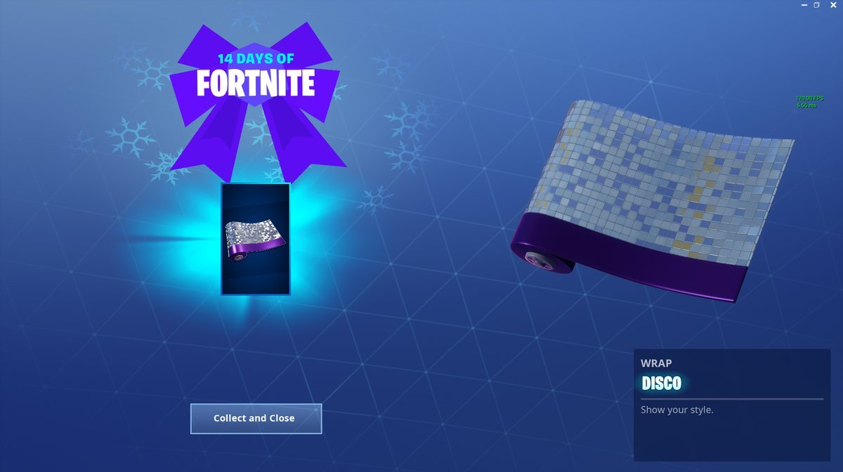 14 Days of Fortnite Day 13 Reward - Disco Wrap