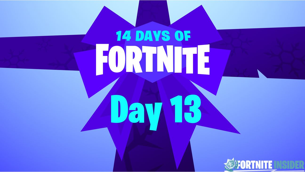 14 Days of Fortnite Challenges and Rewards - Day 13 | Fortnite Insider