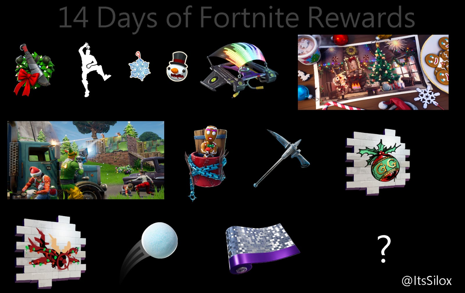 Leaked Rewards For Completing The 14 Days Of Fortnite Challenges
