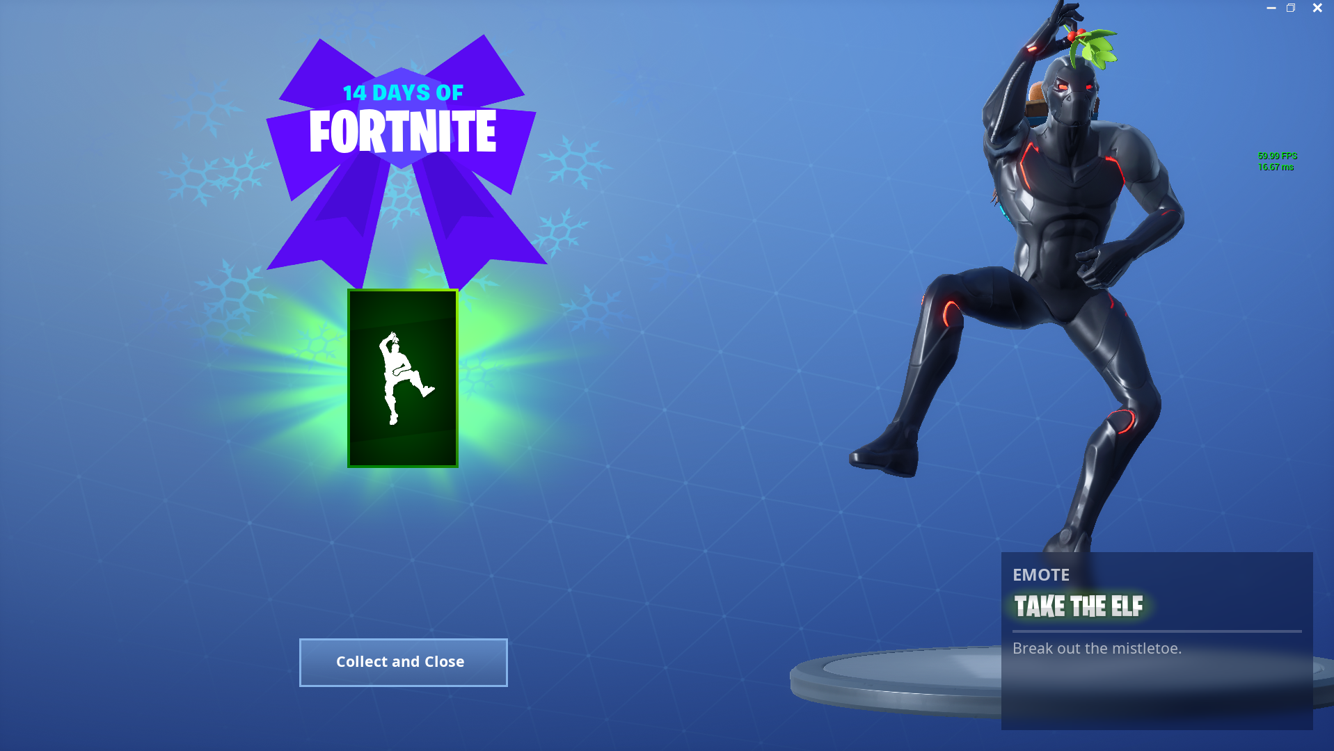 14 days of Fortnite Day 8 Reward - Take the Elf