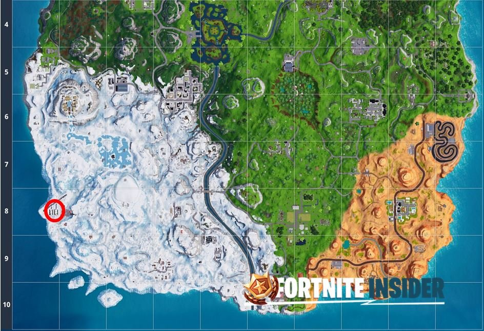 Fortnite Snowfall Challenges Week 3 Hidden Battle Star Location