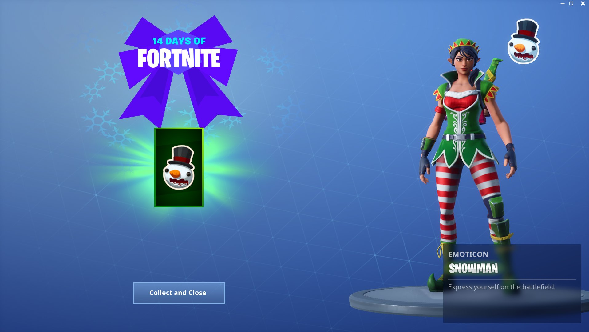 Day 4 Fortnite Reward