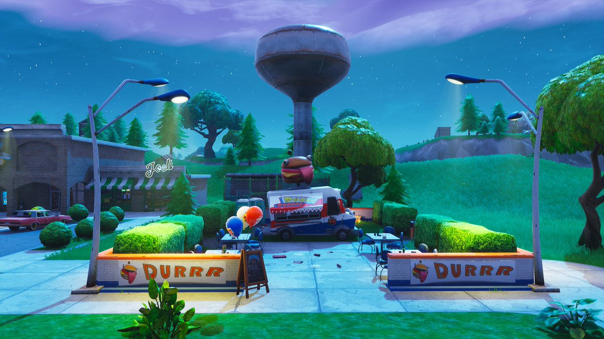 Fortnite Season 7 Map Changes - Durrr Burger Food Truck