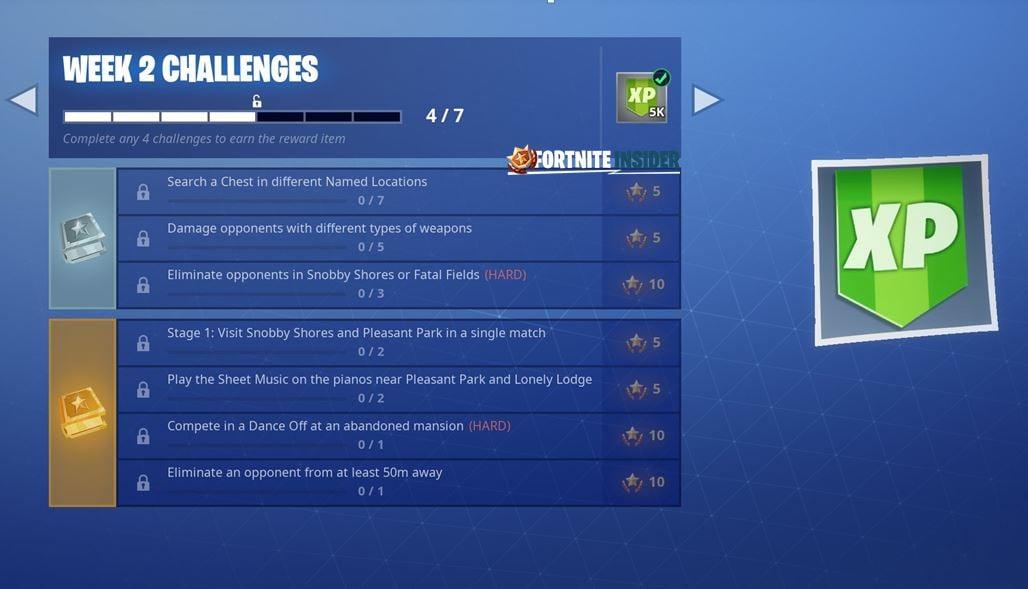 Fortnite Challenges for Season 7 Week 2 Leaked