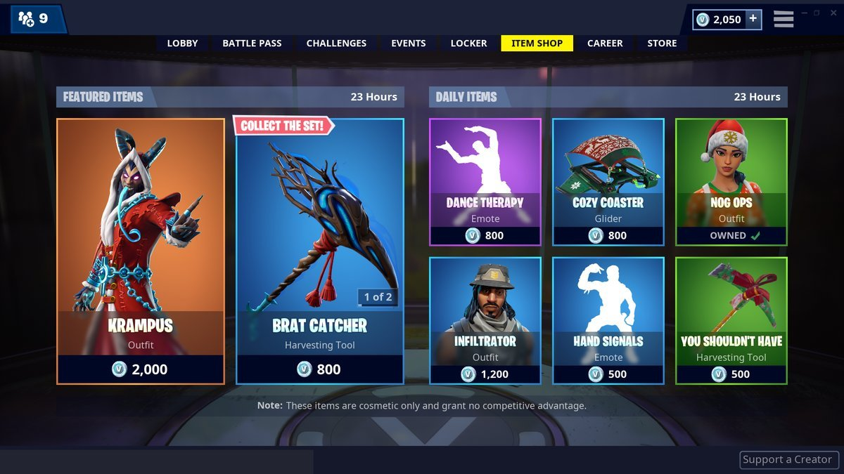 Fortnite Item Shop 24th December