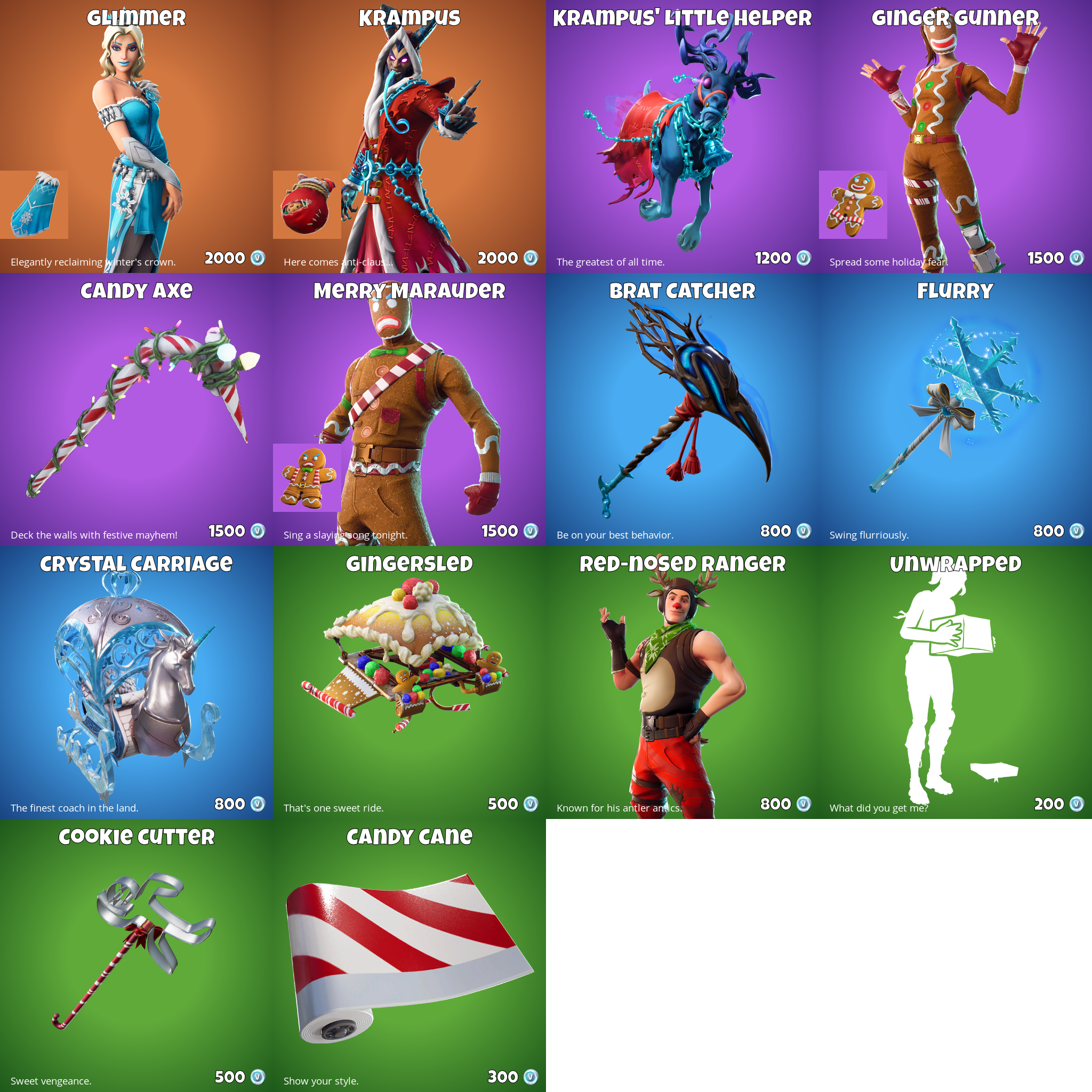 Fortnite Item Shop 25th December - New Fortnite Skins