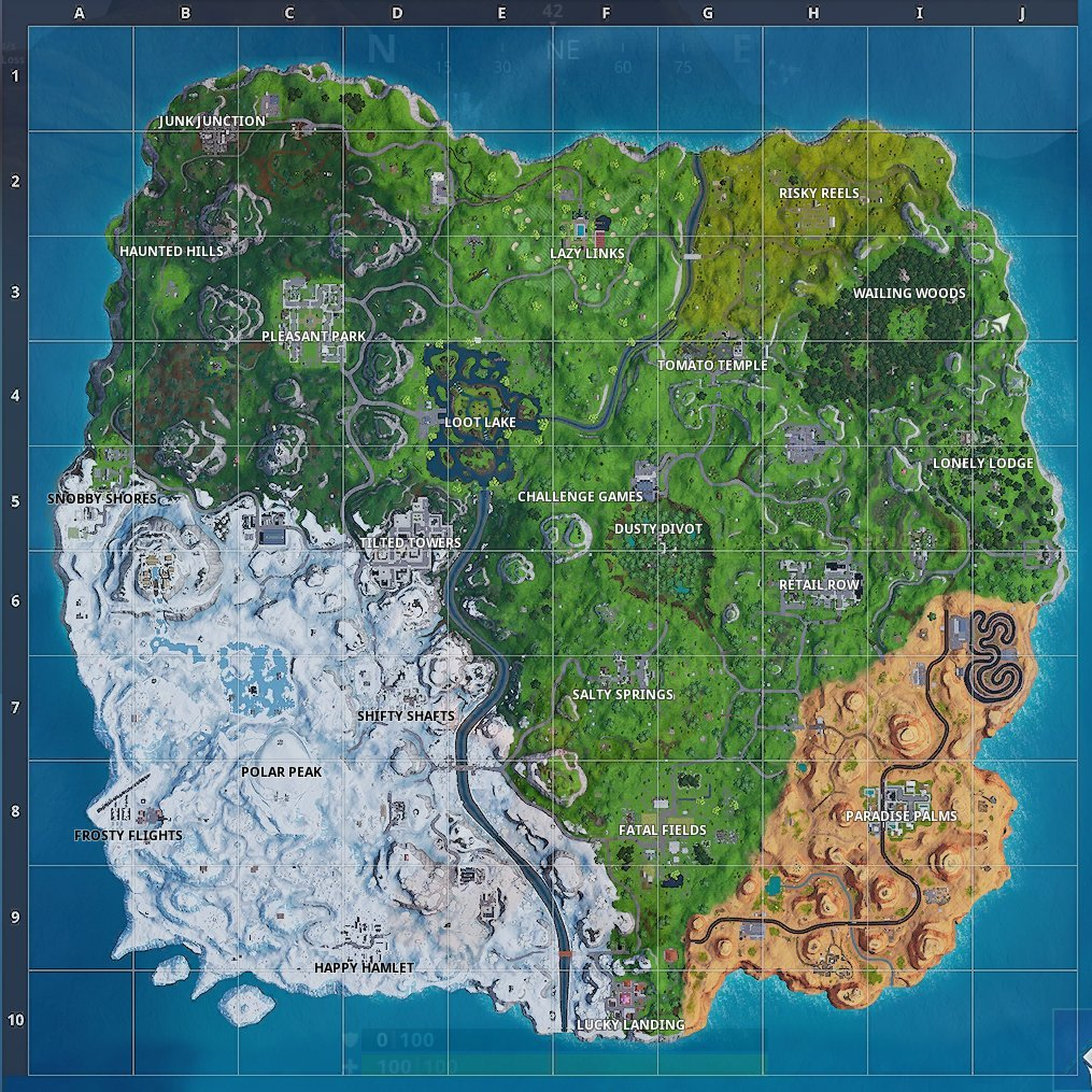 Fortnite Map Season 7 Location Names