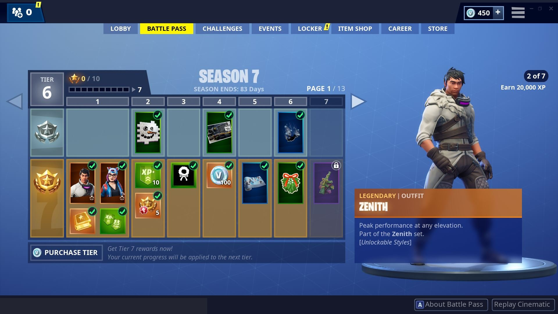 Fortnite Season 7 Battle Pass Page 1