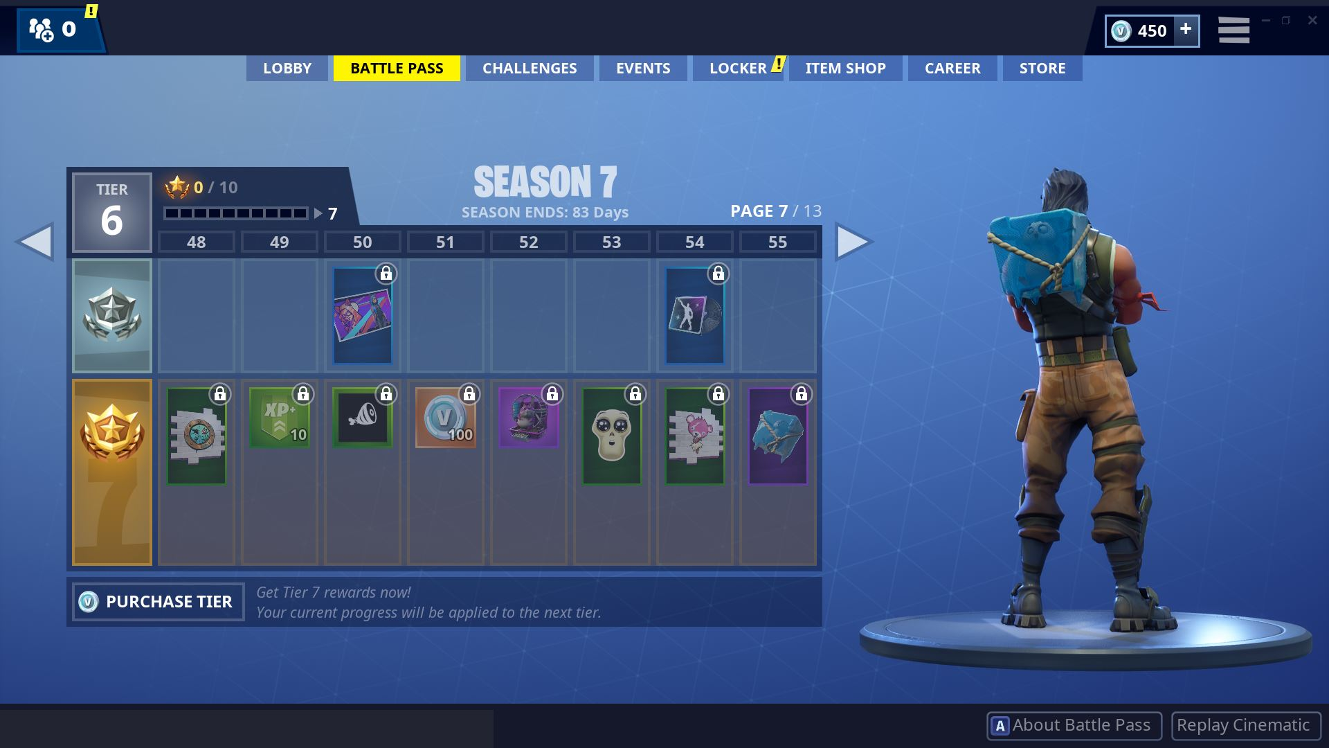Fortnite Season 7 Battle Pass Page 7