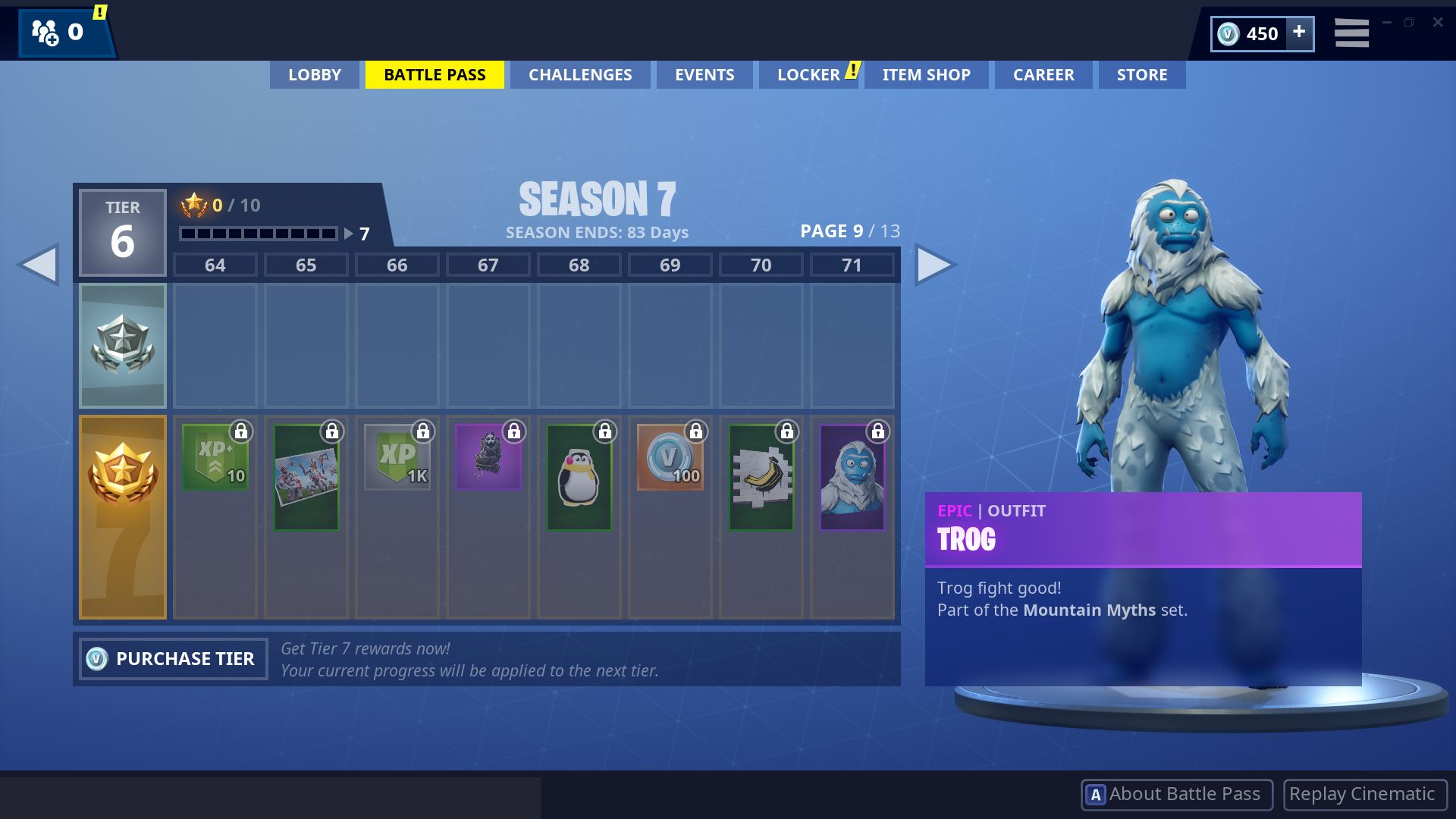 Fortnite Season 7 Battle Pass Page 9