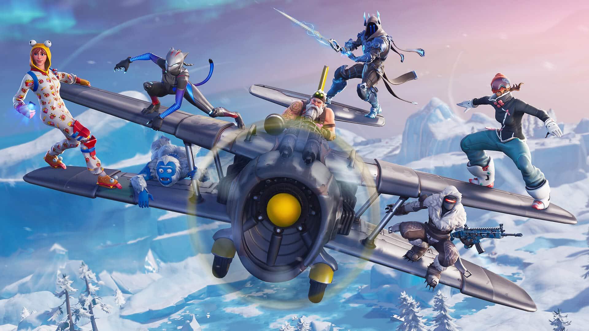 Fortnite Season 7 Loading Screen Plane