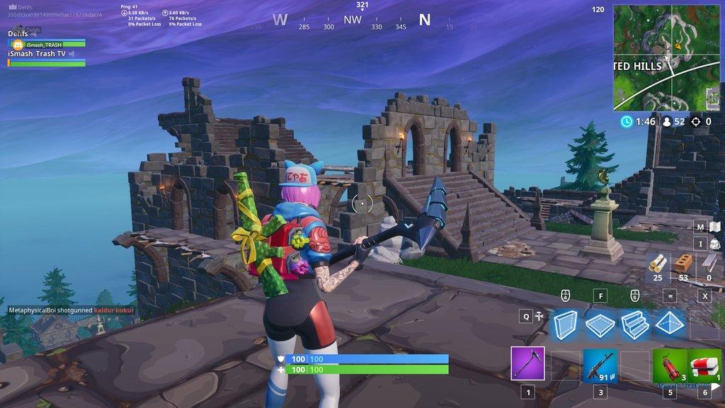 Fortnite Season 7 Map Changes - Haunted Hills Castle Destroyed