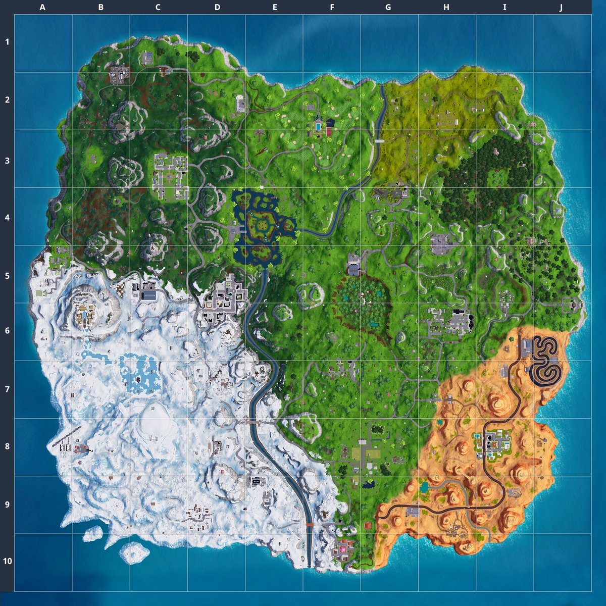 Fortnite Season 7 Map High Definition