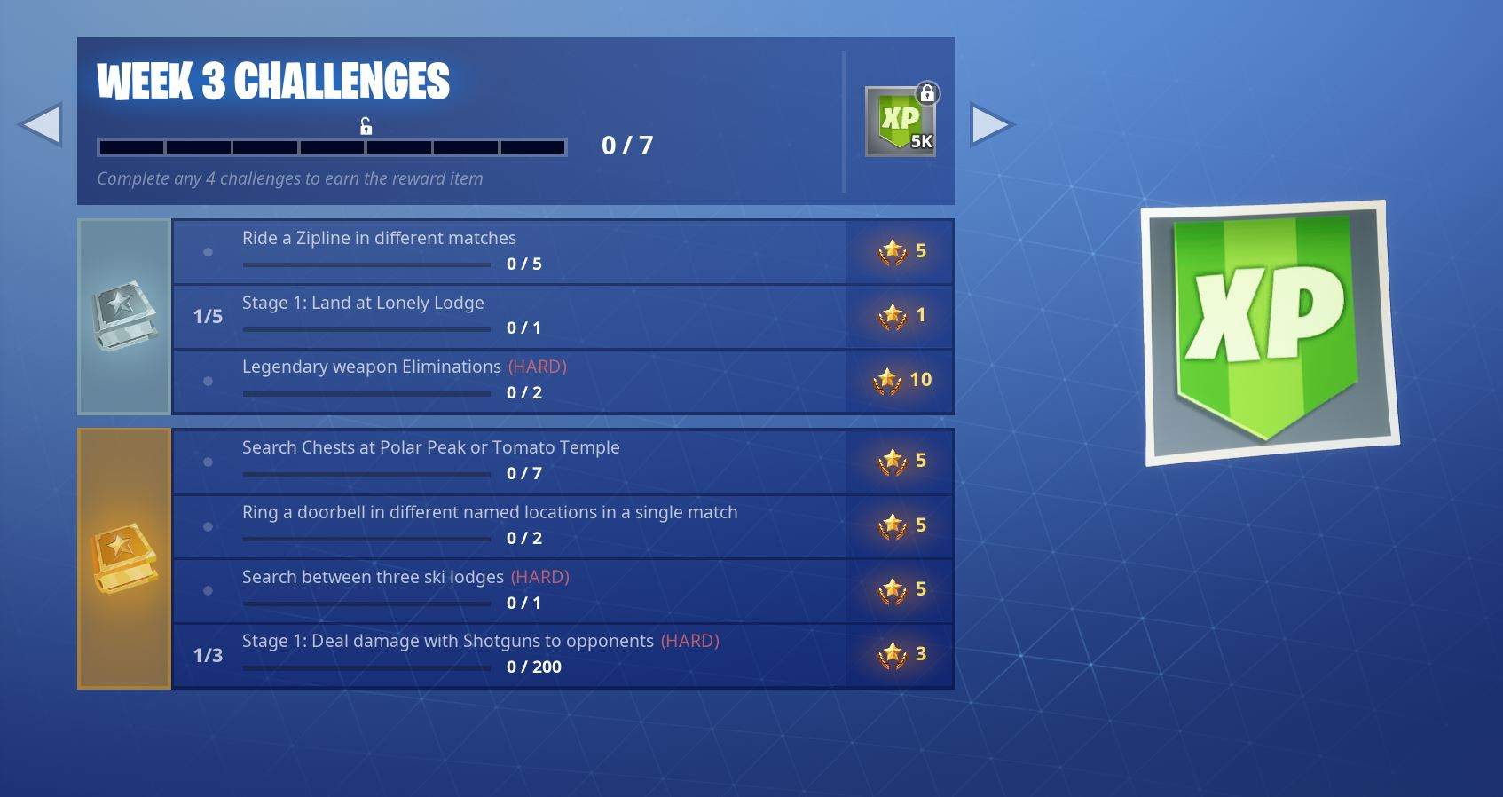 Fortnite Season 7 week 3 official challenges