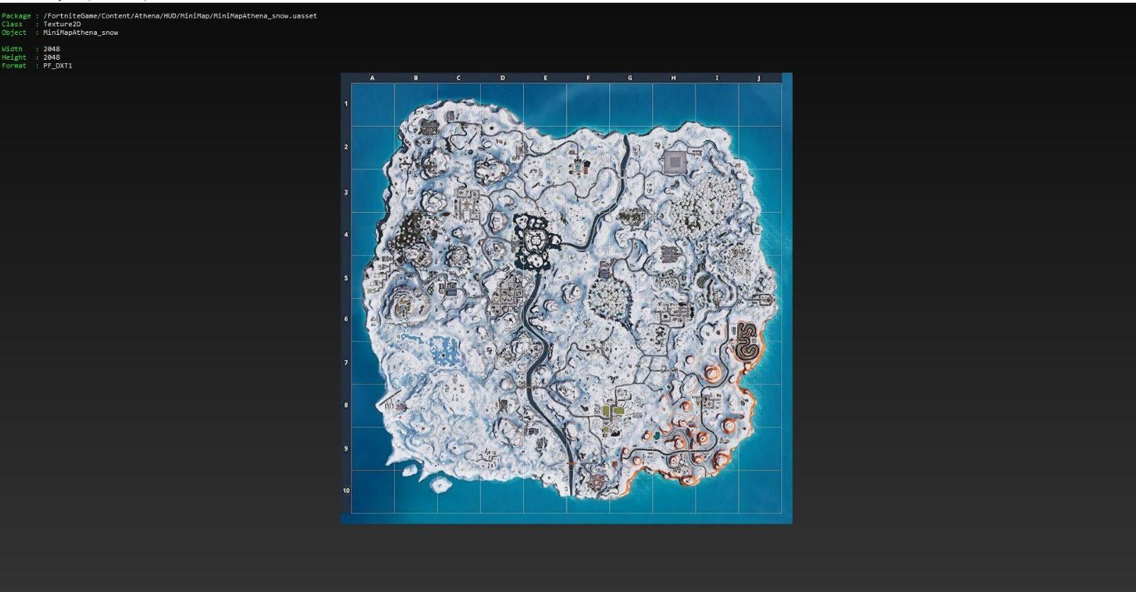Fortnite Snow Map in Files