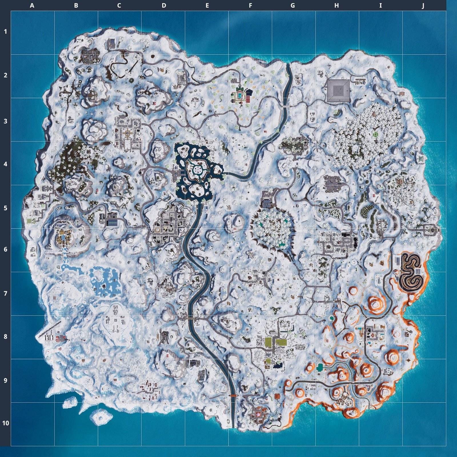 Fortnite Snow Map